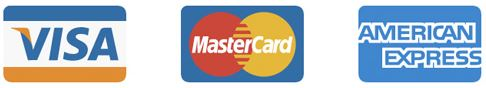 Credit Cards supported - Visa, Mastercard, American Express plus many more
